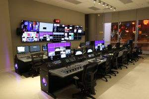 Inside Rogers Place's event-level video control room