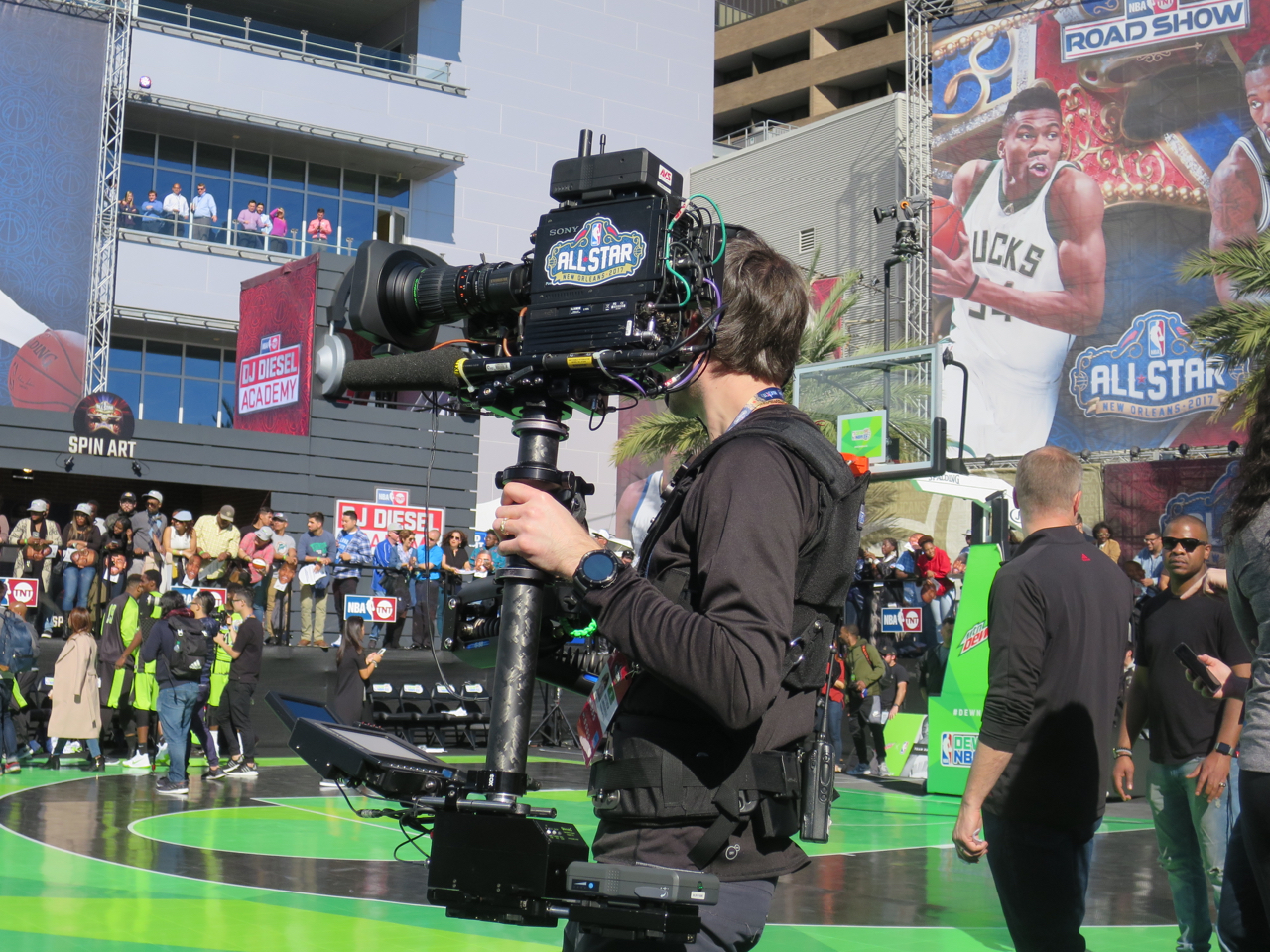 One of the Steadicams covering the Dew NBA3X final yesterday.
