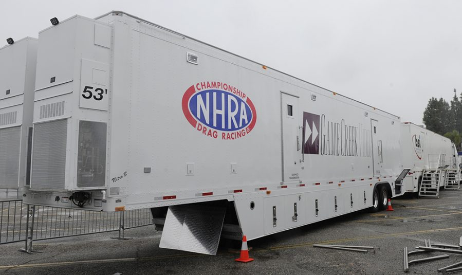 Game Creek Video designed the new Nitro mobile unit specifically with NHRA's live productions in mind.
