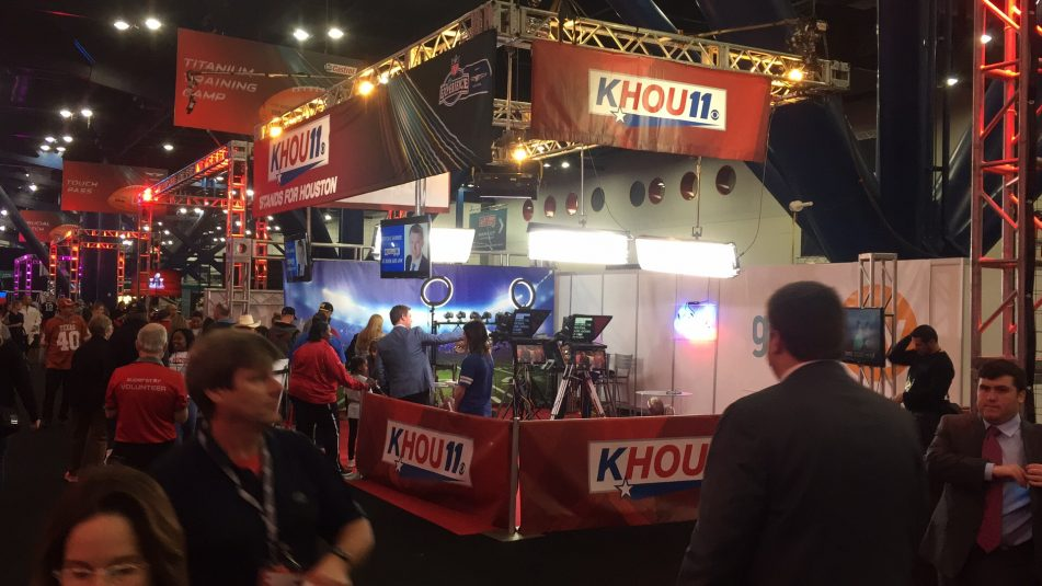 KHOU Houston used TVU One to backhaul signals from the NFL Experience to the station.