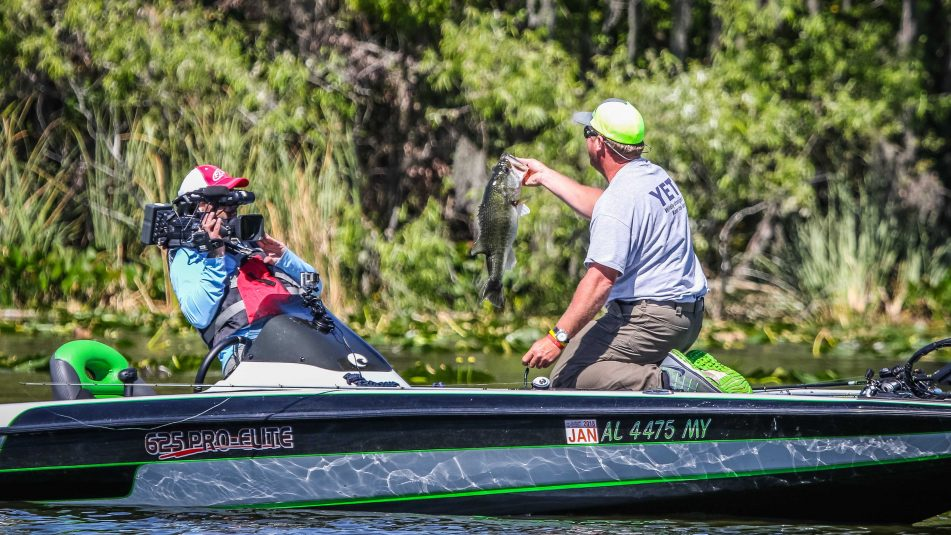 Digital P Media is using five JVC ProHD cameras to provide live coverage of FLW bass fishing tournaments. Courtesy of FLW/Photo by D. W. Reed II