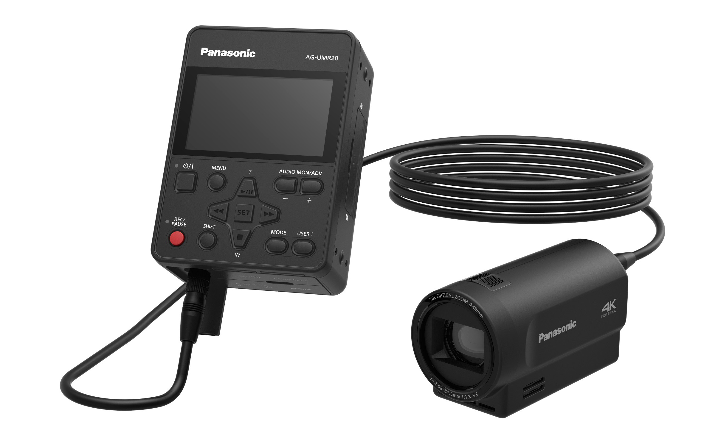 Live From Nab 2017 Panasonic Media Entertainment Co Offers New Ptz Camera Wiring Diagram The Ag Umr20 Compact Field Recorder And Companion Uck20 4k Head Facilitate Image Capture Advanced Ip Control Streaming