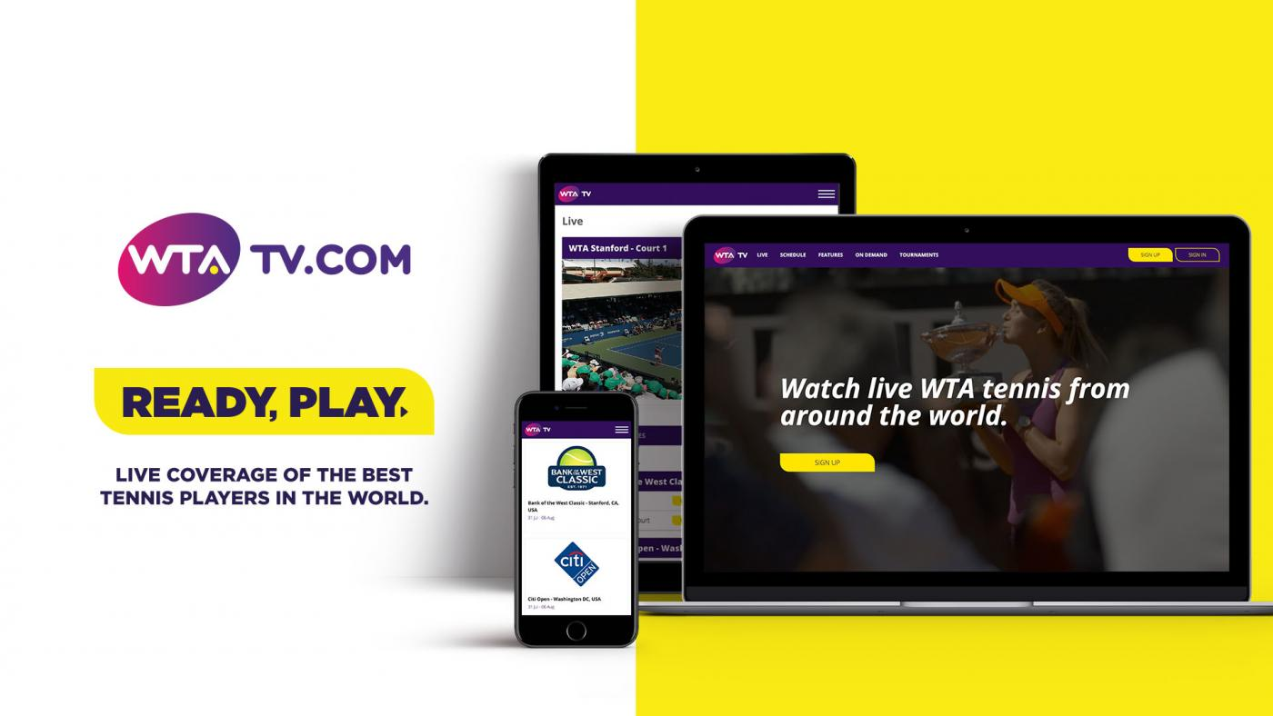 WTA Set to Launch Live-streaming Service WTA TV on July 31