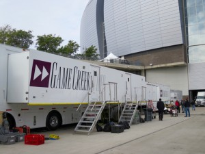 Game Creek Video has seven production trucks at University of Phoenix Stadium for ESPN's coverage of College Football's National Championship game.