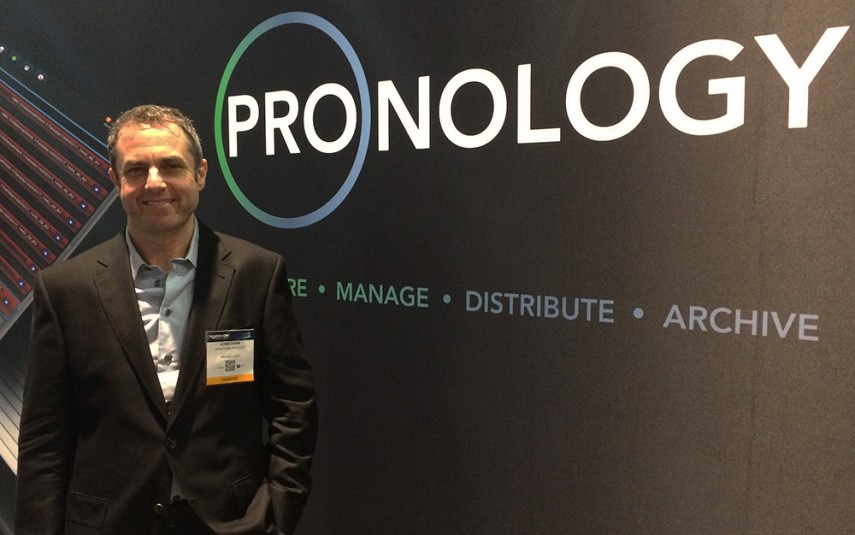 Pronology President Jonathan Aroesty at the company's booth at NAB 2016