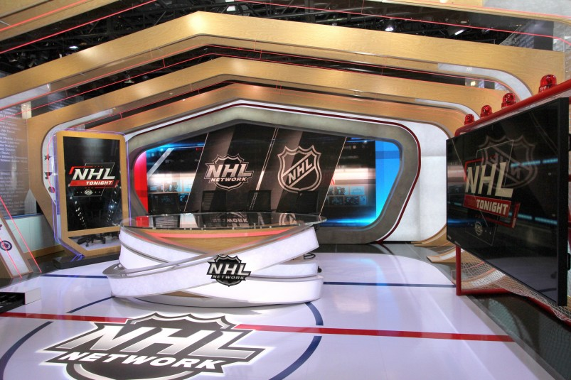 """""""The Rink,"""" NHL Network's new studio debuted in time for the start of the Stanley Cup Playoffs."""