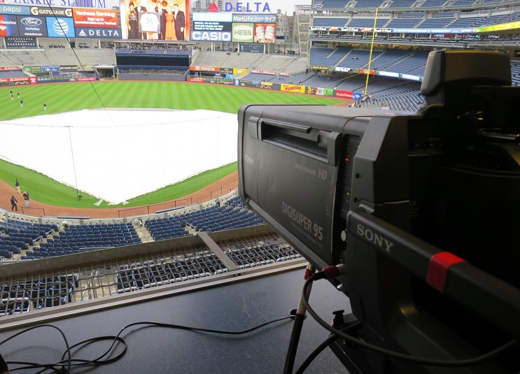 One of 10 Sony HDC-4300 cameras deployed by MLB Network at Yankee Stadium on May 6.