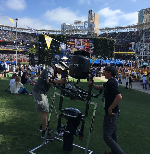 Spidercam has been deployed for Fox's daily studio programming throughout the week and will provide beauty shots as well as being integrated as a high-home camera for game coverage.