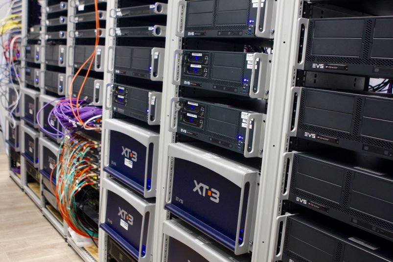The BBC is making use of 34 channels of EVS XT3 servers.