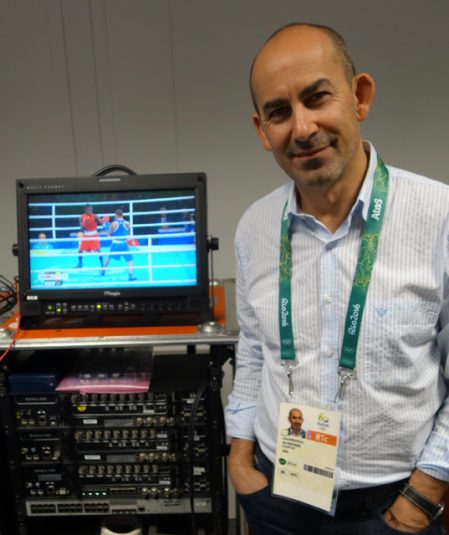 Lionel Bentolila, CEO of Aldea Solutions, is on hand at the Summer Olympics with a team of 10 to meet transmission needs of a number of broadcasters.