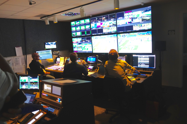 Control Room X at the IBC is being used to produce a number of sports, including women's basketball, remotely.