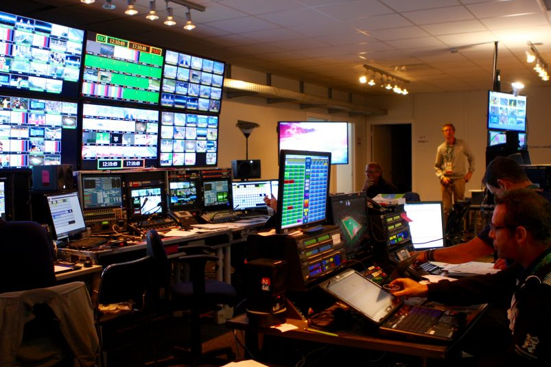 The France Télévisions technical control area makes sure the production team home in Paris gets what they need for proper Olympic coverage.