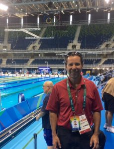 Glen Levine, NEP Group's president, U.S. Mobile Units, on site in Rio where NEP is supporting NBC's swimming coverage.