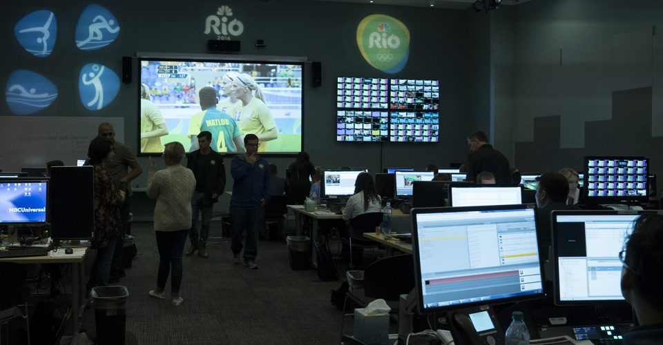 The NBC Olympics Highlights Factory is bigger than ever in Stamford (Photo by: Virginia Sherwood/NBC)