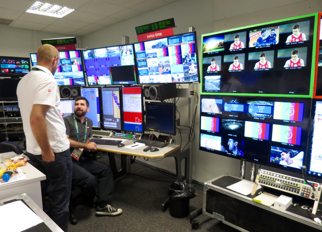 A production team of 35 people is overseeing the IBC operations for SRG SSR.