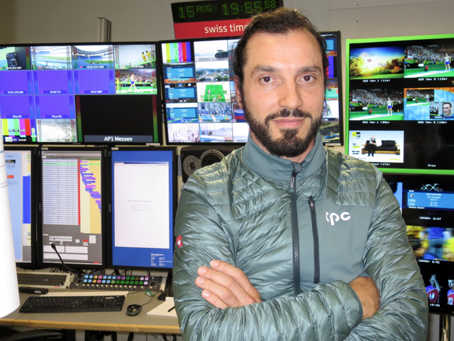 Toni Milanese of SRG SSR oversees the Olympic technical operations for three Swiss TV channels and says the broadcaster is now controlling studio operations from three locations in Switzerland.