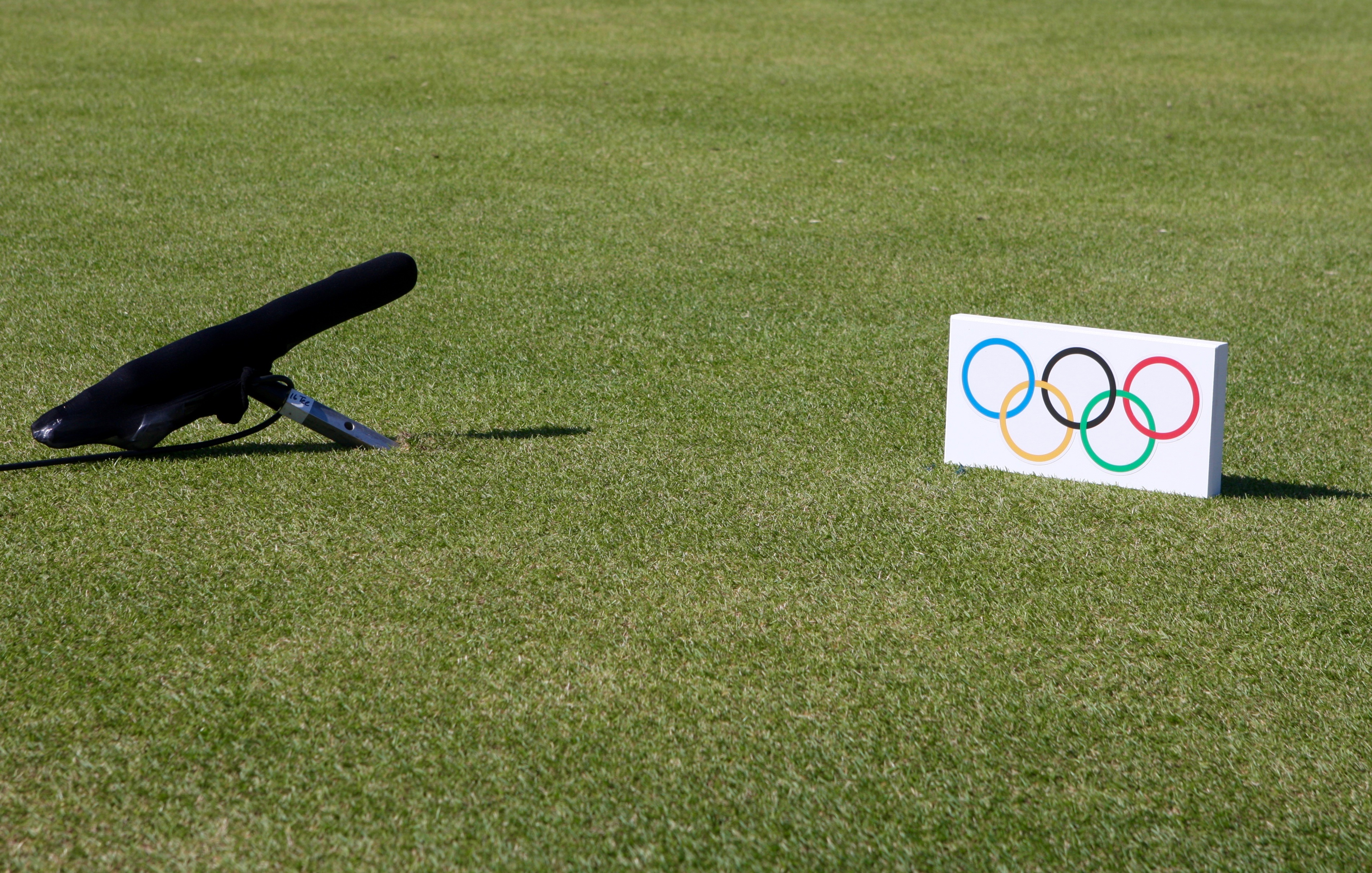 Tee box mics are all over the course to capture the sounds of golf's return to the Olympics.