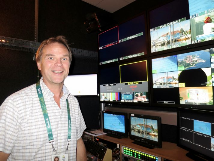 Gunnar Darge of ZDF is extremely happy with how the Olympic production is going.