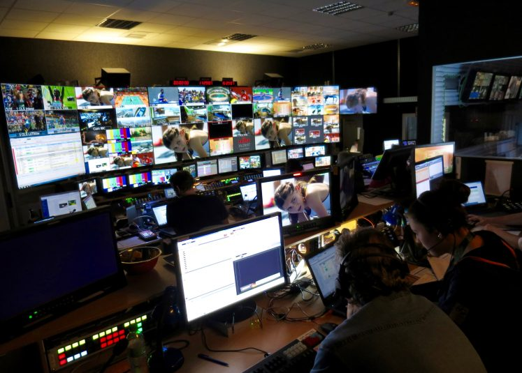 The main Rio Olympics production control room at the ARD/ZDF area in the IBC.