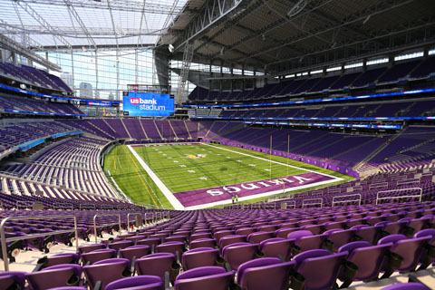 U.S. Bank Stadium features the most square footage of 13HD LED display in the NFL.
