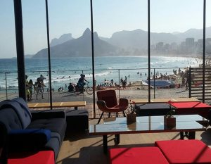 The Friends of the Game lounge offers a great place to relax at the Olympics.