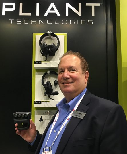 Global Sales Manager Gary Rosen at Pliant Technologies' booth at IBC 2016