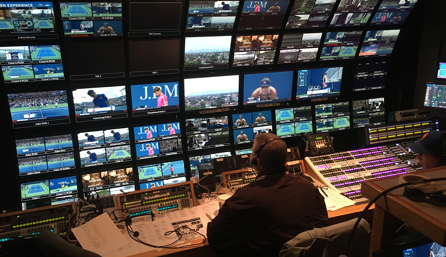 ESPN's ITV operation is the sole control room located in a truck for the US Open.