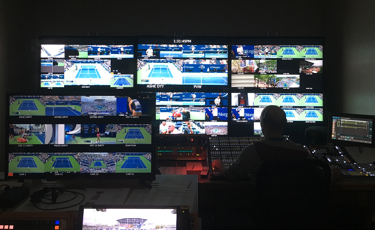 One of nine control rooms located on the second floor of the ESPN Broadcast Center.