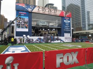Video boards from VER give the Fox Sports sets some extra visual punch.