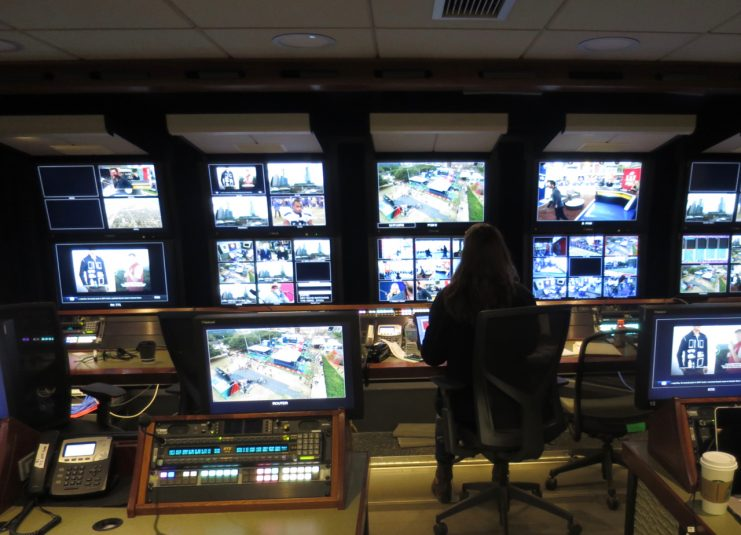 NEP's ND1 has been separated into an A and B control room to handle the two Fox sets at Discovery Green Park.