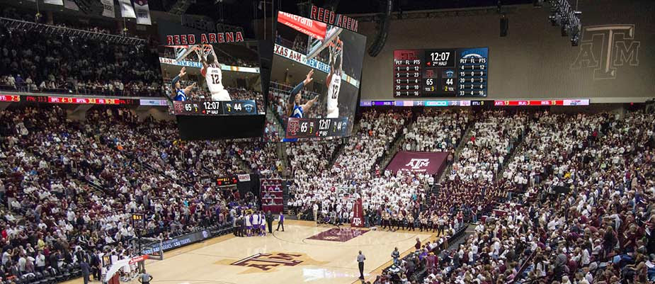 texas a u0026m university brings hd video experience to reed arena