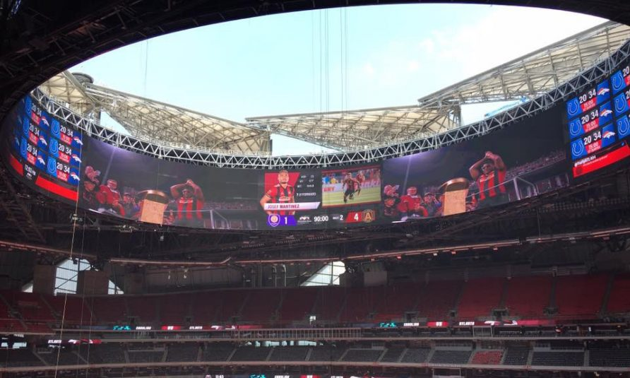 Atlanta Falcons' Mercedes-Benz Stadium Nears Opening With Halo Display, Video Workflow Ready To Go