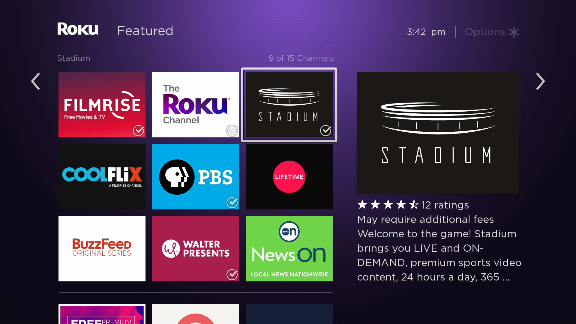 Stadium Is Now Available on Roku