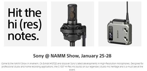 NAMM 2018: Sony Highlights Latest Microphones