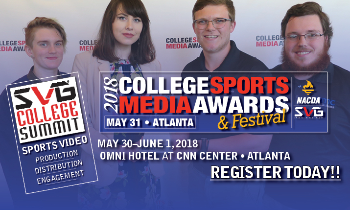 Enter the 2018 SVG/NACDA College Sports Media Awards Today!