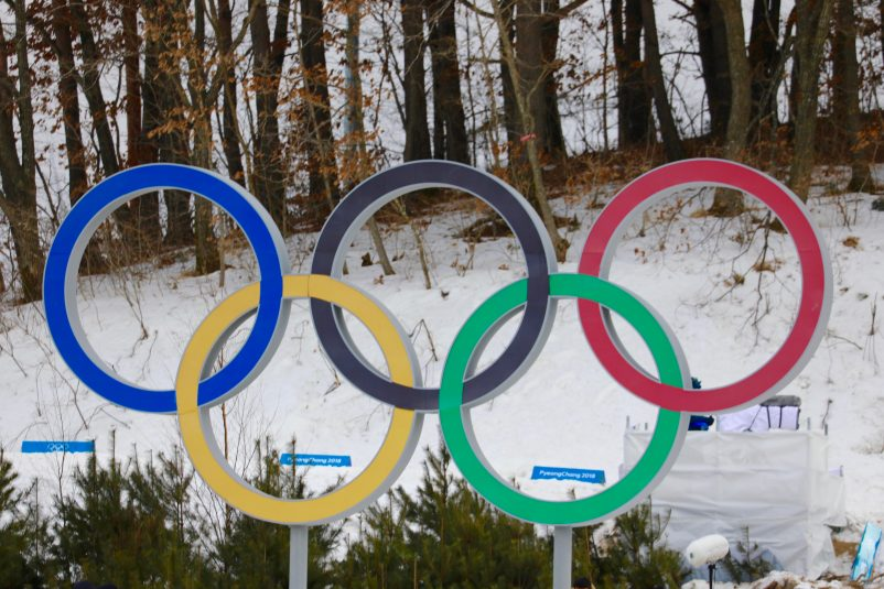 Olympic rings in the Skiing Centre