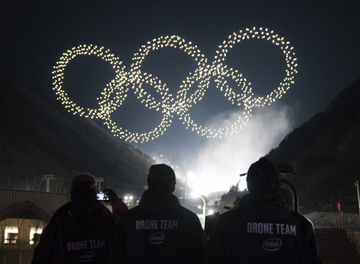 Intel breaks record, again with Winter Olympics light show featuring 1218 drones