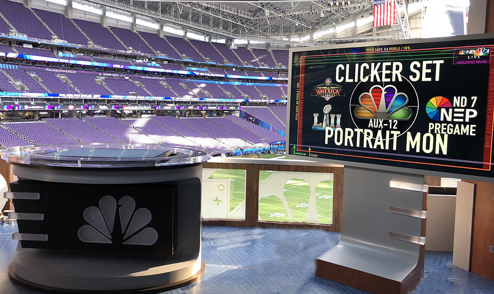 Nbc Sports Has Created A Coach S Clicker Set Next To The Main Where Ysts Will Dissect Using Touchscreen