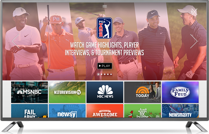 PGA TOUR Partners With Xumo for Big-Screen Experience