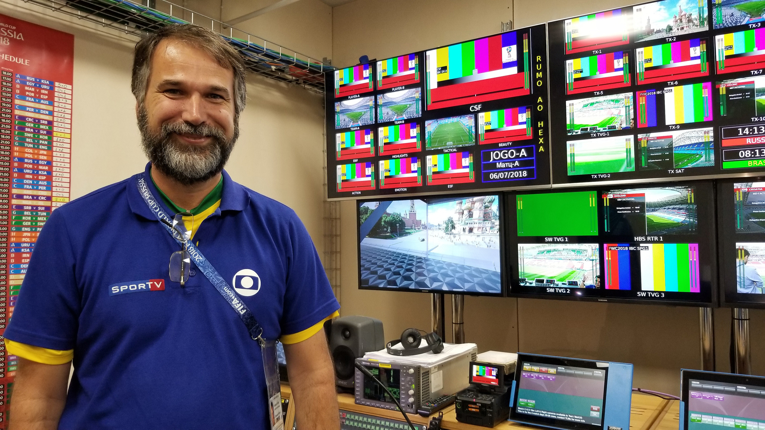 Live From FIFA World Cup: Brazil's TV Globo Takes On Moscow's Red