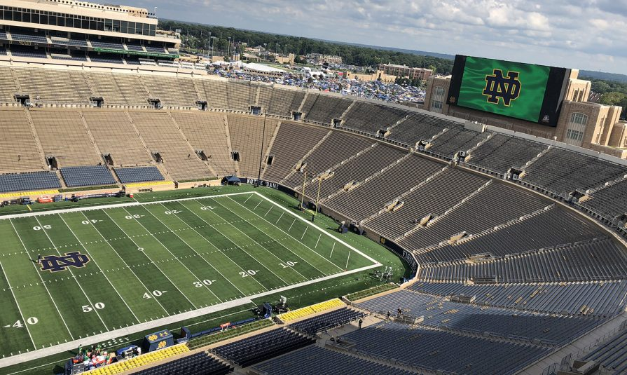 nbc sports delivers 4k hdr coverage of notre dame football