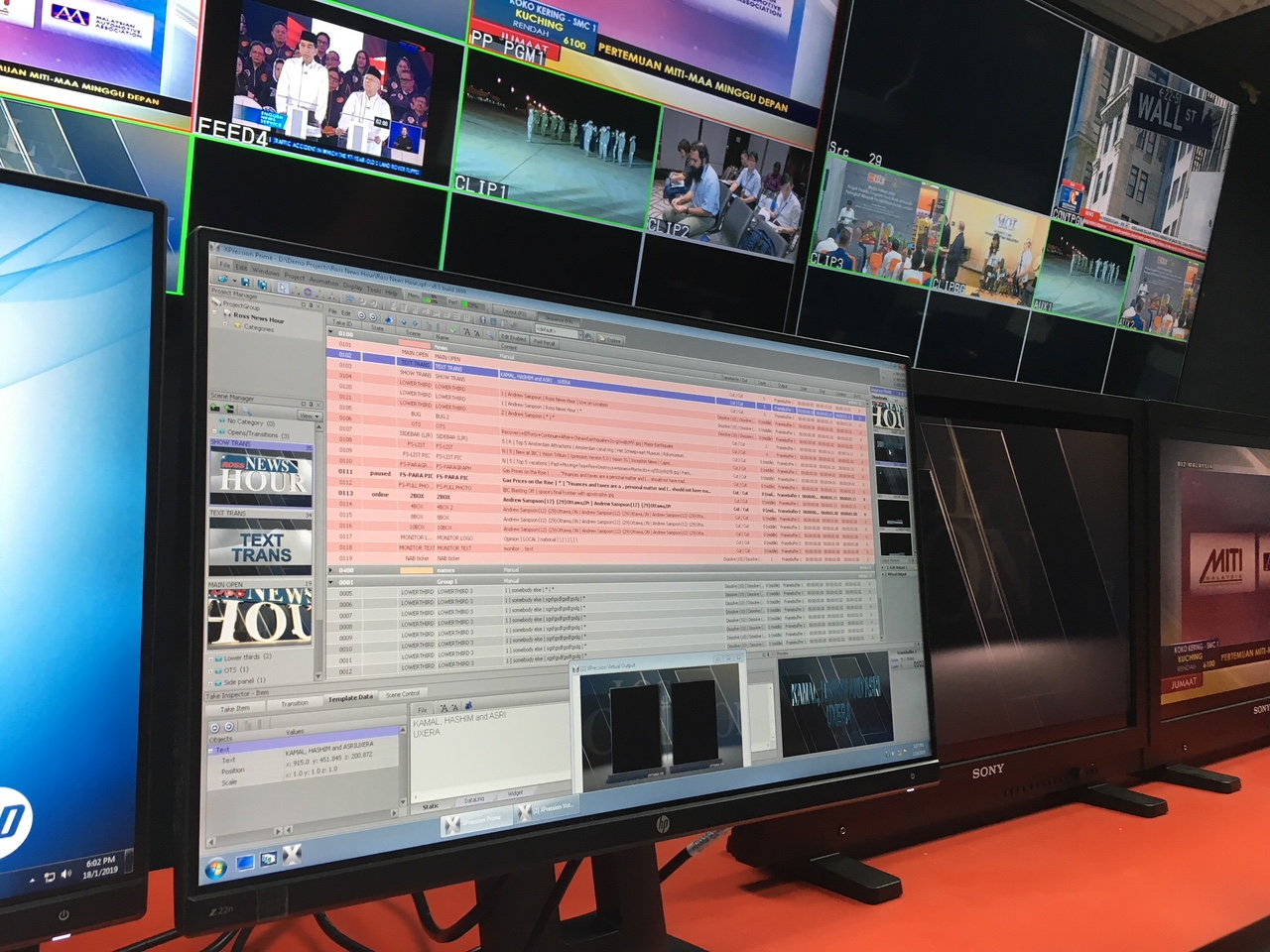 Ross Video Anchors Production of Malaysia's BERNAMA News Channel