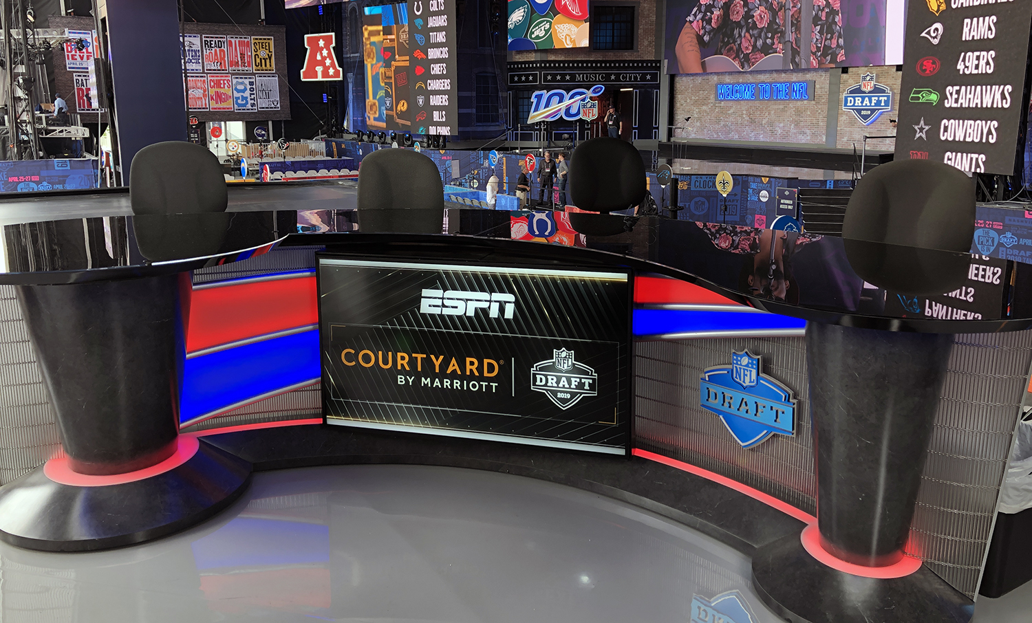 Live From The Nfl Draft With Abc On Board Espn Rolls Out Largest Draft Production Ever
