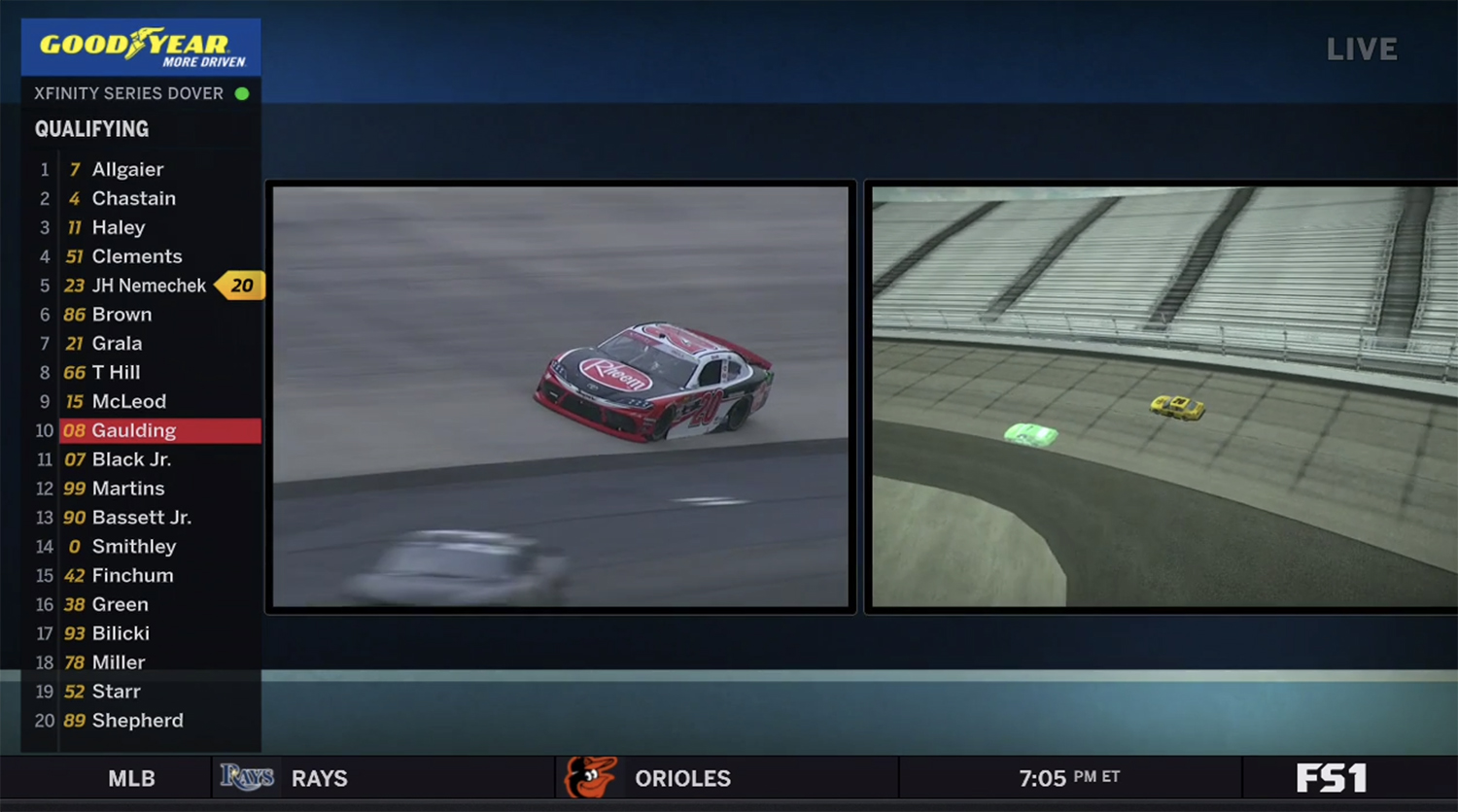 Smt S Ghostcar Technology Enables Nascar To Transition To Single Car