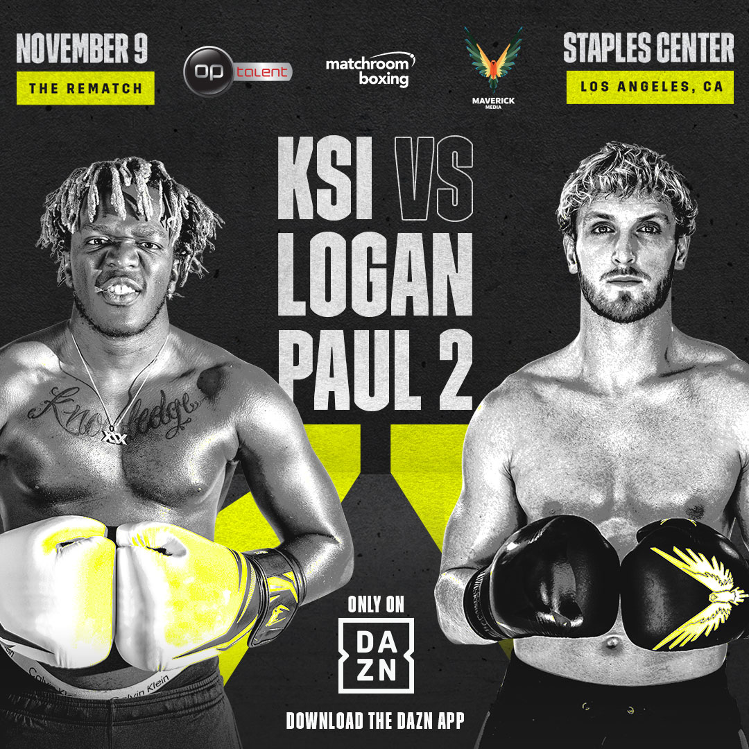DAZN To Host Boxing Rematch Between KSI, Logan Paul On