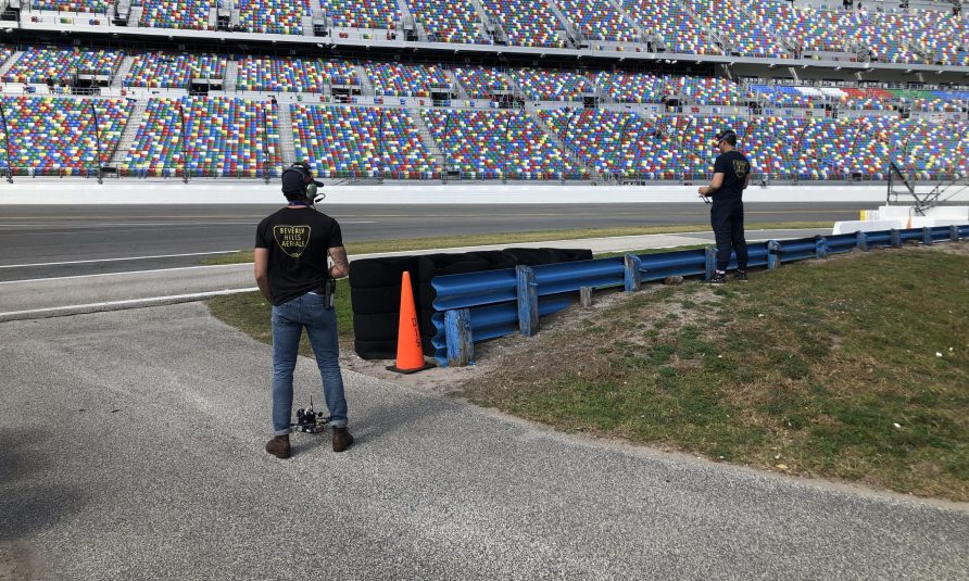 Live From Daytona 500: Fox Sports Headlines 20th Consecutive Year With FPV Racing Drone, 80-Ft. Strada Crane