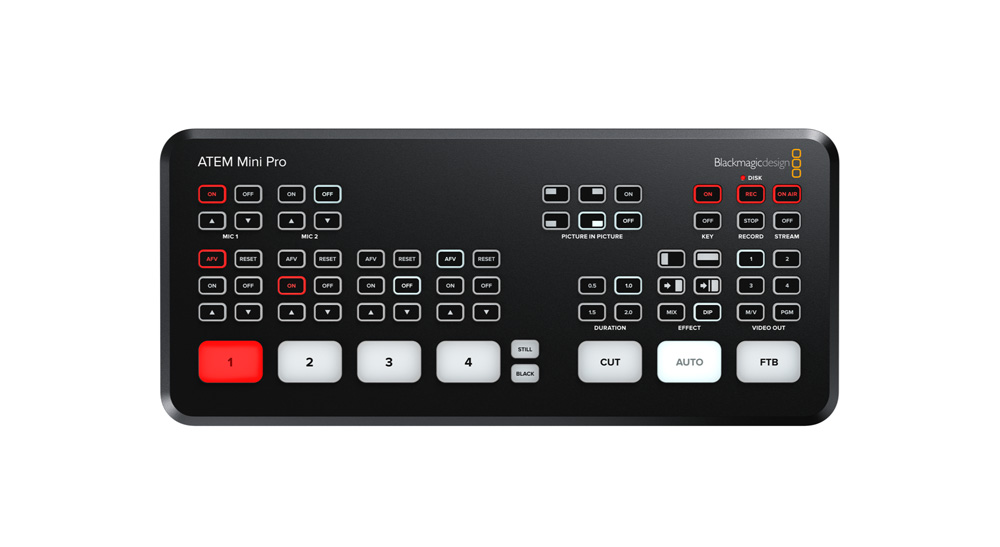 Blackmagic Design Atem Mini Pro Offers Streaming Engine Hyperdeck Adds Interlace Support