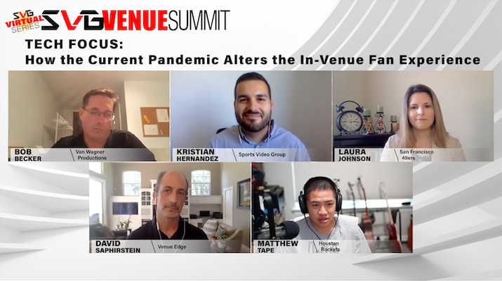 2020 SVG Venue Summit Virtual Series – Tech Focus: How the Current Pandemic Alters the In-Venue Fan Experience: REGISTER HERE TO WATCH