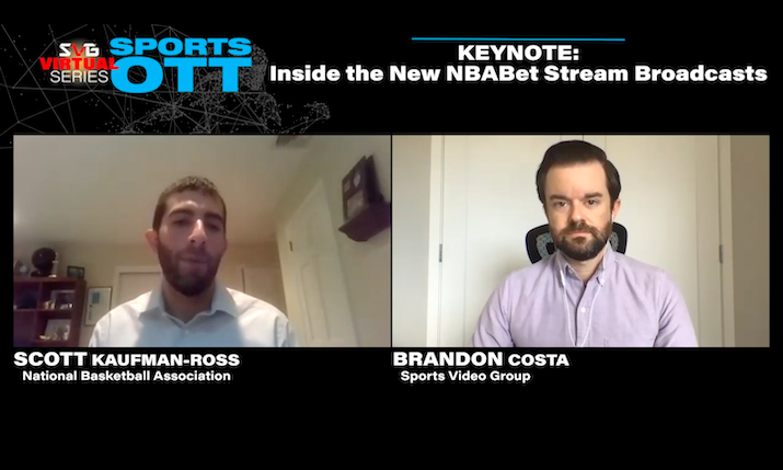 2020 SVG Sports OTT Virtual Series – Keynote: Inside the New NBABet Stream Broadcasts: REGISTER HERE TO WATCH