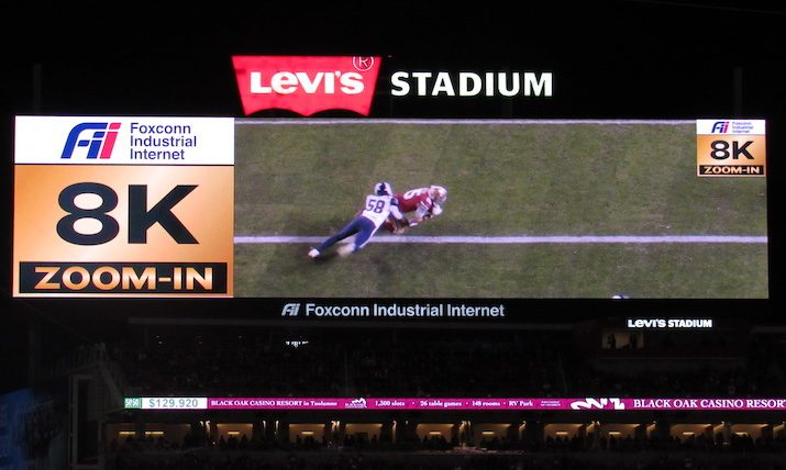 San Francisco 49ers Adopt 8K Camera Array at Levi's Stadium in Time for This Week's <i>Thursday Night Football</i>